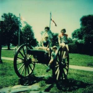 Todd, Liz, Seth and Asher - Richmond, VA Battlefield Park, June 14,1979