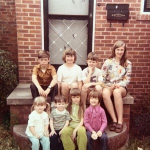 Stoop kids - Cousins on the steps of Grandma's Byron St. House